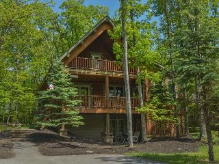 Captivating 4 Bedroom Log home with private hot tub!