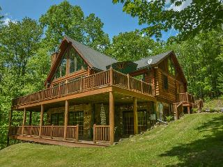 Exquisite 4 Bedroom Log Home offers Luxurious accomodations & privacy!