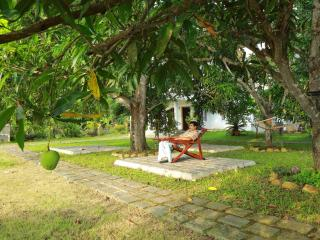 The garden&sitting area is with greenary &lot of mango trees.Thi is a relaxing area.