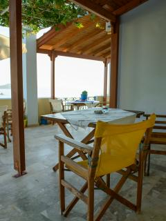 Large terrace/covered with seaview for the Nice double studio.