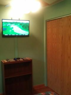 Flat screen on wall