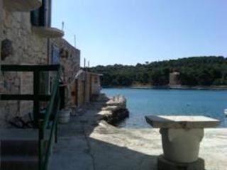 Stone villa on island harbour, Prvic Luka