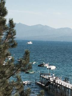 Beautiful Lake Tahoe. Tahoe Queen boat for sightseeing