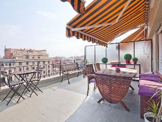 Boutique Private Terrace : wifi, aircon, elevator, Barcelona