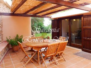 Chia, villa Acquamarina, 6 posti letto, 150ma mare