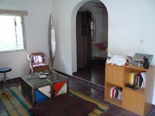 Studio meuble dans beau jardin, tres central.