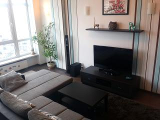 Spacious 1BD studio, elite district in city centre with 24/7 security, Kiev
