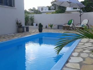 Private Beach Apartment for 1-3 persons with pool, sunny balcony,free WIFI
