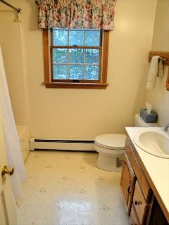 Bathroom with tub shower combo on second floor