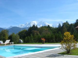 Studio avec piscine vue Mt Blanc