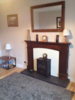 One of two feature fireplaces