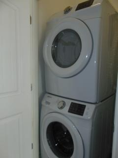 full size washer and dryer, laundry detergent - provided