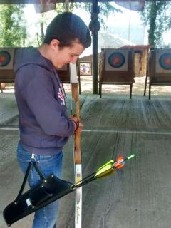 robin hoodie at the neighbouring archery centre