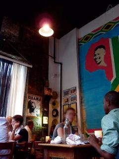 Madiba is the local South African eatery just steps from our house