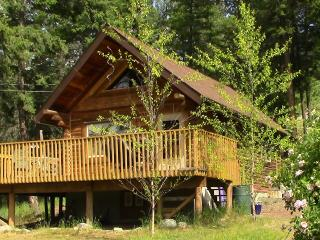 Okanagan log cabin guest house & private lakeview property