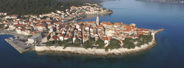 The view on Korcula from the sea