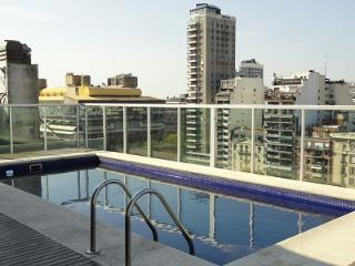 Modern New One-Bedrm with Balcony/Pool/Gym/View, Buenos Aires