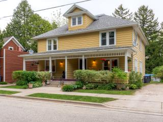 New Listing! Inviting 3BR Elkhart Lake Townhome w/Wifi, Large Fenced Yard & Multiple Private Porches - Walking Distance to the Lake, Fine Dining, Shopping, Live Music & More