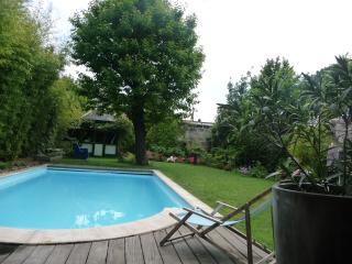 Maison 200m2 centre Bordeaux, grand jardin/piscine