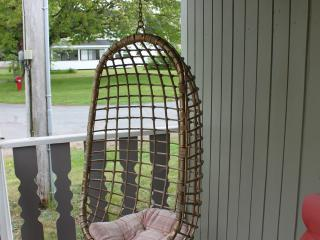 Enjoy a rest on the swinging chairs on the front deck.