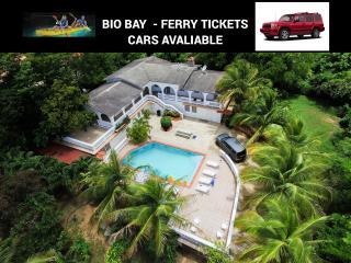 House with pool for 11next to BioBay.Car avaliabl, Esperanza