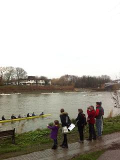 Oxford v Cambridge Uni boat race goes past every year near the house...always a fun family event.