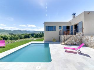 Villa with a pool in the Mediterranean scrubland, Palasca