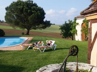 Wonderful character Gite near Duras with fantastic views and private pool