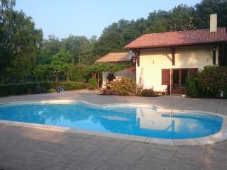 House with pool in large gardens 10 min from beach