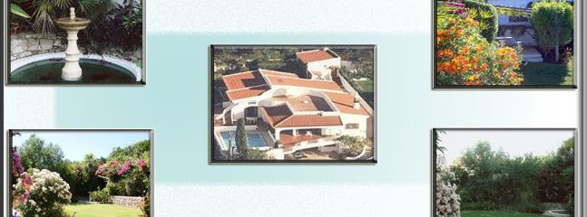 Aerial View of Casa Coniglio, Fountain, Garded