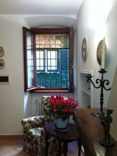 Living room corner by the the front door