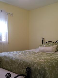 Bedroom #4, queen with all new bedding and furnishings