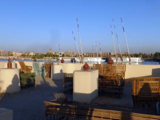 la vue depuis le toit-terrasse