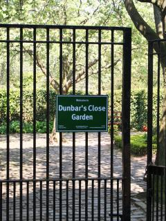 Entrance to Dunbar's Close Garden - adjacent to the apartment