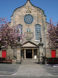 Canongate Kirk - next door to the apartment