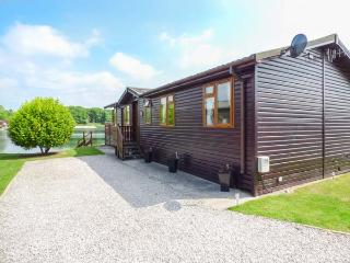SERENITY LODGE, detached, log cabin, on-site facilities, nr Carnforth, Ref