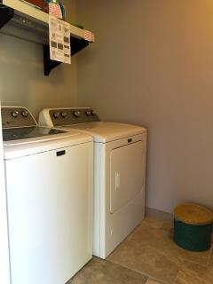 Maytag washer & dryer located downstairs