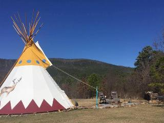 Bring Your Tribe & Stay in our 27 foot Custom Teepee!