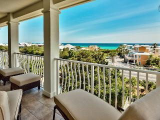 Gulf views, community pool, large balcony and well appointed furnishings - Emerald Vista, Santa Rosa Beach
