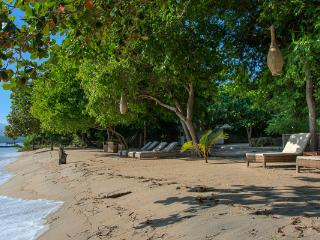 Beachfront 3 bedroom villa, large swimming pool!