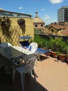 terrazza abitabile di 30 mq.