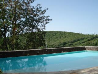 Villa with panoramic pool and garden, Siena