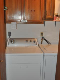 Washer and dryer off great room!