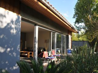 bungalow dans jardin