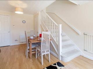 Stair gates are fitted top and bottom and a travel playpen is also available.
