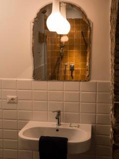 bagno della stanza verde, Residenza La Corte Assisi B&B