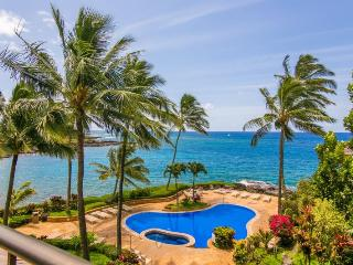 Whalers Cove 230 exquisite ocean front 2bd with FREE mid-size car, Koloa