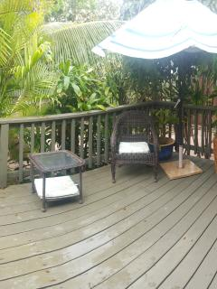 Private lanai off the master
