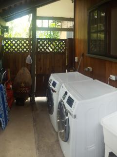Washer/Dryer area. Also where we keep beach toys.