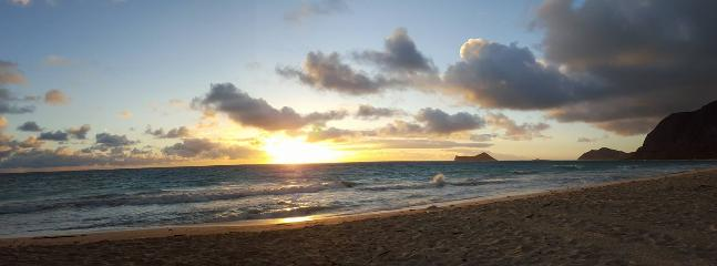 Only 2 houses from this- beautiful Waimanalo Beach. AMAZING sunrises!